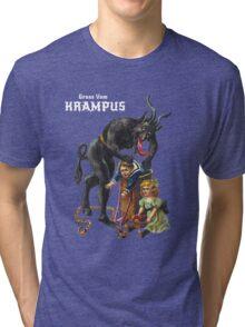 Gruss Vom Krampus Greetings From Christmas Demon  Tri-blend T-Shirt