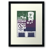 The Door To Danger Framed Print