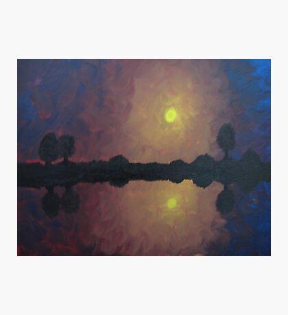 Sunset Reflection On The Lake Photographic Print