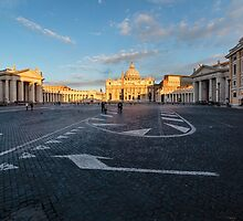 St. Peter's Square & Basillica, Vatican City by fotosic