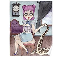 Bonnibelle & Aniij - Pin Up Girl & Python Companion Poster