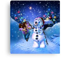 undead snowman  Canvas Print