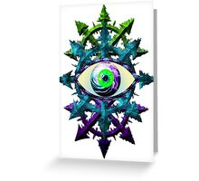EVIL EYE WITH CHAOS STAR - meadow Greeting Card