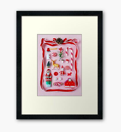 Holiday Miniatures Framed Print