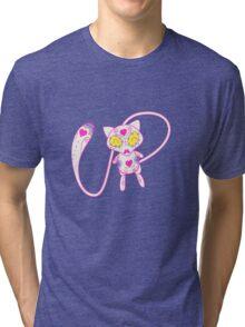 Mew Popmuerto | Pokemon & Day of The Dead Mashup Tri-blend T-Shirt