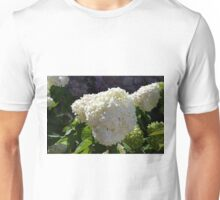 Beautiful white large round flower Unisex T-Shirt
