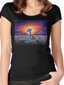 Lapras Pokemon Majestic Fan Art Women's Fitted Scoop T-Shirt