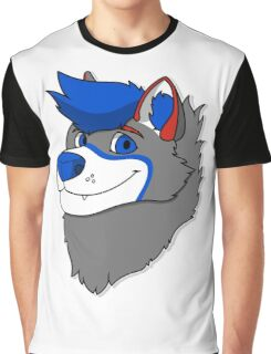 Vakeri Husky Headshot Graphic T-Shirt