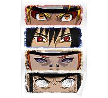 NINJA EYES - Naruto Sasuke Pain Neji Poster