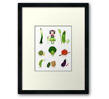 Veggie Army Framed Print