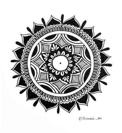 The Inky Mandala Flower Sticker