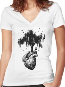 SPRING into Action Women's Fitted V-Neck T-Shirt
