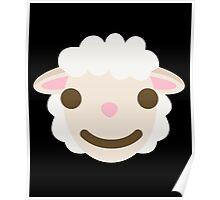 Sheep Emoji Happy Smiling Face Poster