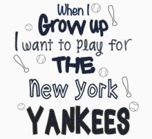 When I Grow Up...Baseball (New York) Kids Clothes