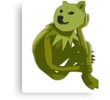 Kermit the Froge Canvas Print