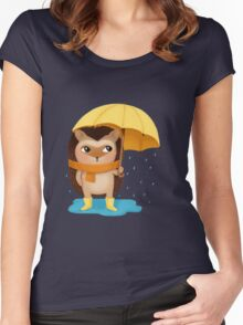 Hami the Hedgehog - the Rainy Day Women's Fitted Scoop T-Shirt