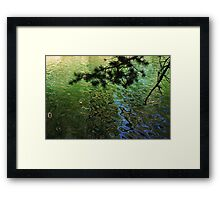 Green Water Patterns Framed Print