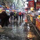 Famous Muslim Quarters  Xi'an China by sandysartstudio