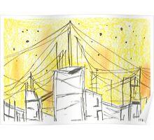 City yellow Poster