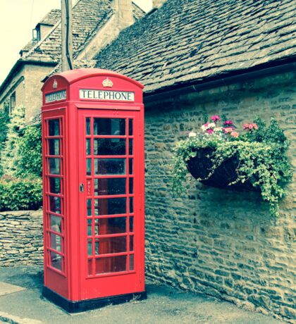 Red Telephone Box in England Sticker