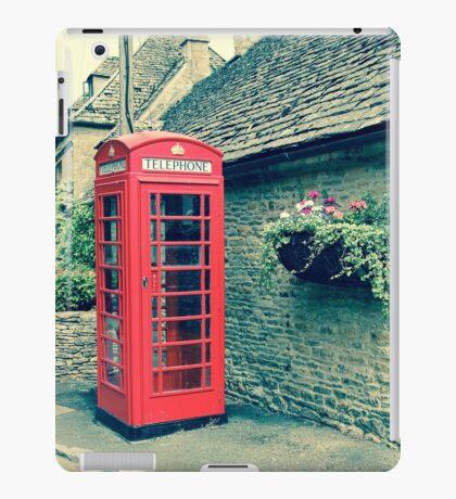 Red Telephone Box in England iPad Case/Skin