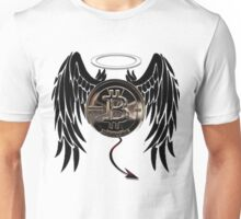 Bitcoin is angel  or devil  Unisex T-Shirt