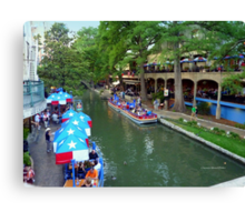 Patriotic Riverwalk Canvas Print