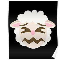 Sheep Emoji Sour Face Poster