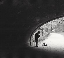 Saxophone Player in Central Park, New York City by dearmoon