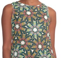 Floral wreath Contrast Tank