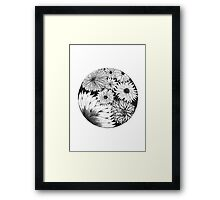 Flower circle #1 Framed Print