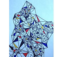 Geometric Drawing in Primary Colors; Mondrian-inspired Photographic Print