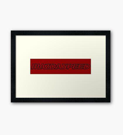 MAZDASPEED  Framed Print