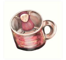 In the Cup! Art Print
