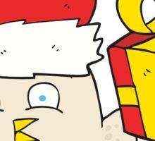 cartoon  christmas owl Sticker