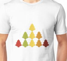 Origami Chain Christmas Trees Unisex T-Shirt
