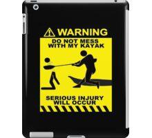 Kayak Warning T-shirt iPad Case/Skin