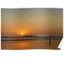 Sunset over La Jolla Shores Poster