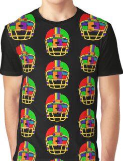Football Helmet (Rainbow) Graphic T-Shirt