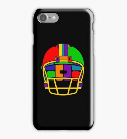 Football Helmet (Rainbow) iPhone Case/Skin