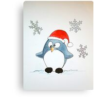 Confused penguin Canvas Print