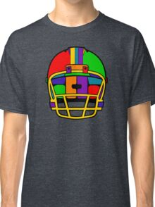 Football Helmet (Rainbow) Classic T-Shirt