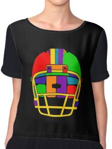 Football Helmet (Rainbow) Chiffon Top