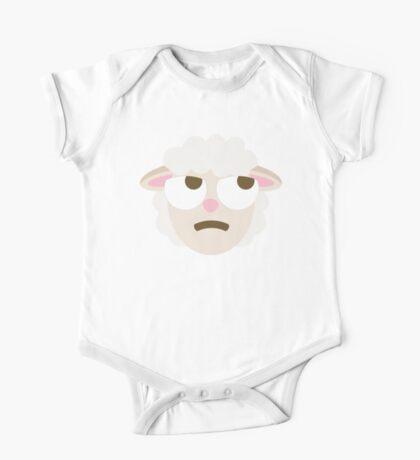 Sheep Emoji Thinking Hard and Hmm Look One Piece - Short Sleeve