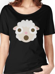 Sheep Emoji Shocked and Surprised Look Women's Relaxed Fit T-Shirt