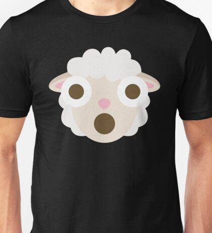 Sheep Emoji Shocked and Surprised Look Unisex T-Shirt