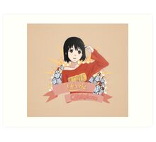 Welcome to the NHK - Misaki Nakahara Ribbon Art Print