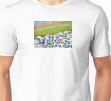 Curved Hill with Blue Rings Unisex T-Shirt