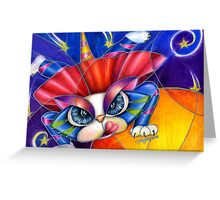 Kami Kaze Kitty by Alma Lee Greeting Card