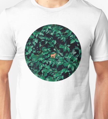Orange horse in the bush Unisex T-Shirt